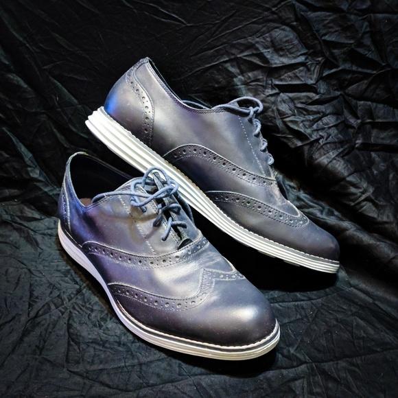 Cole Haan Shoes - Cole Haan ZEROGRAND Wingtip Oxford in Navy Blue 742194947